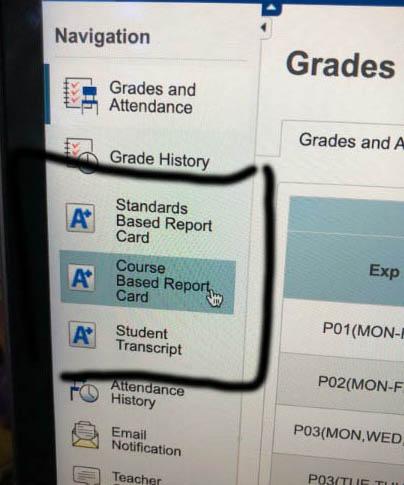 report card parent portal